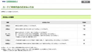 三井住友VISAカードのボーナス一括払いの支払いサイクル